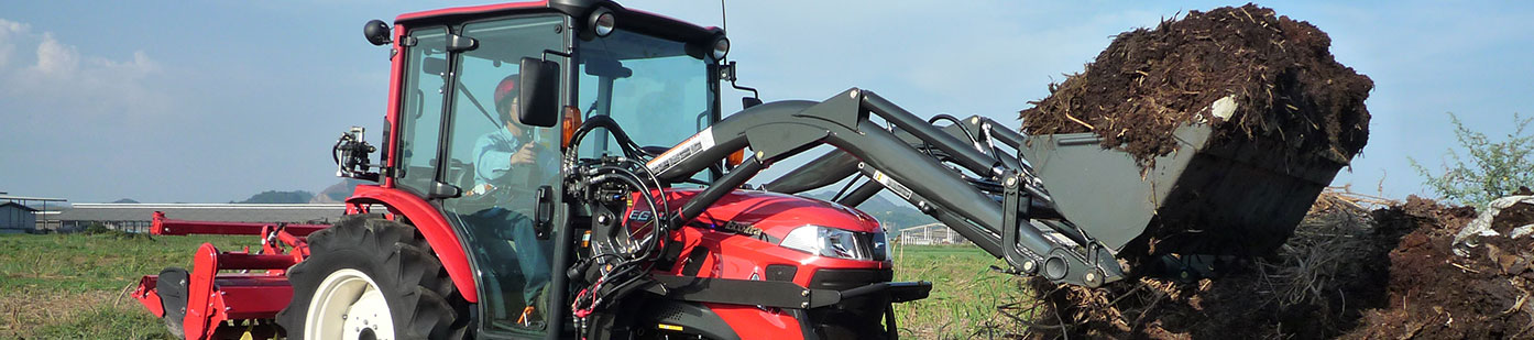 農業トラクタ用荷役作業機フロントローダ
